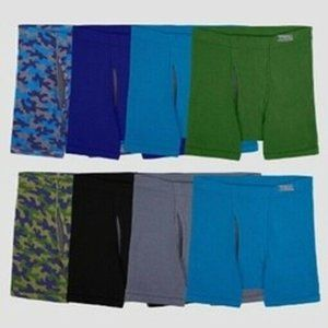 Fruit of the Loom Boys 8 Pack Boxer Briefs new